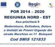 POR 2014-2020 REGIUNEA NORD-EST