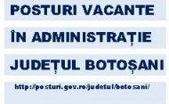 Posturi vacante în administrație