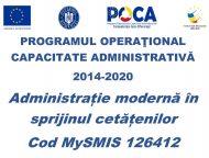 Administrație modernă în sprijinul cetățenilor